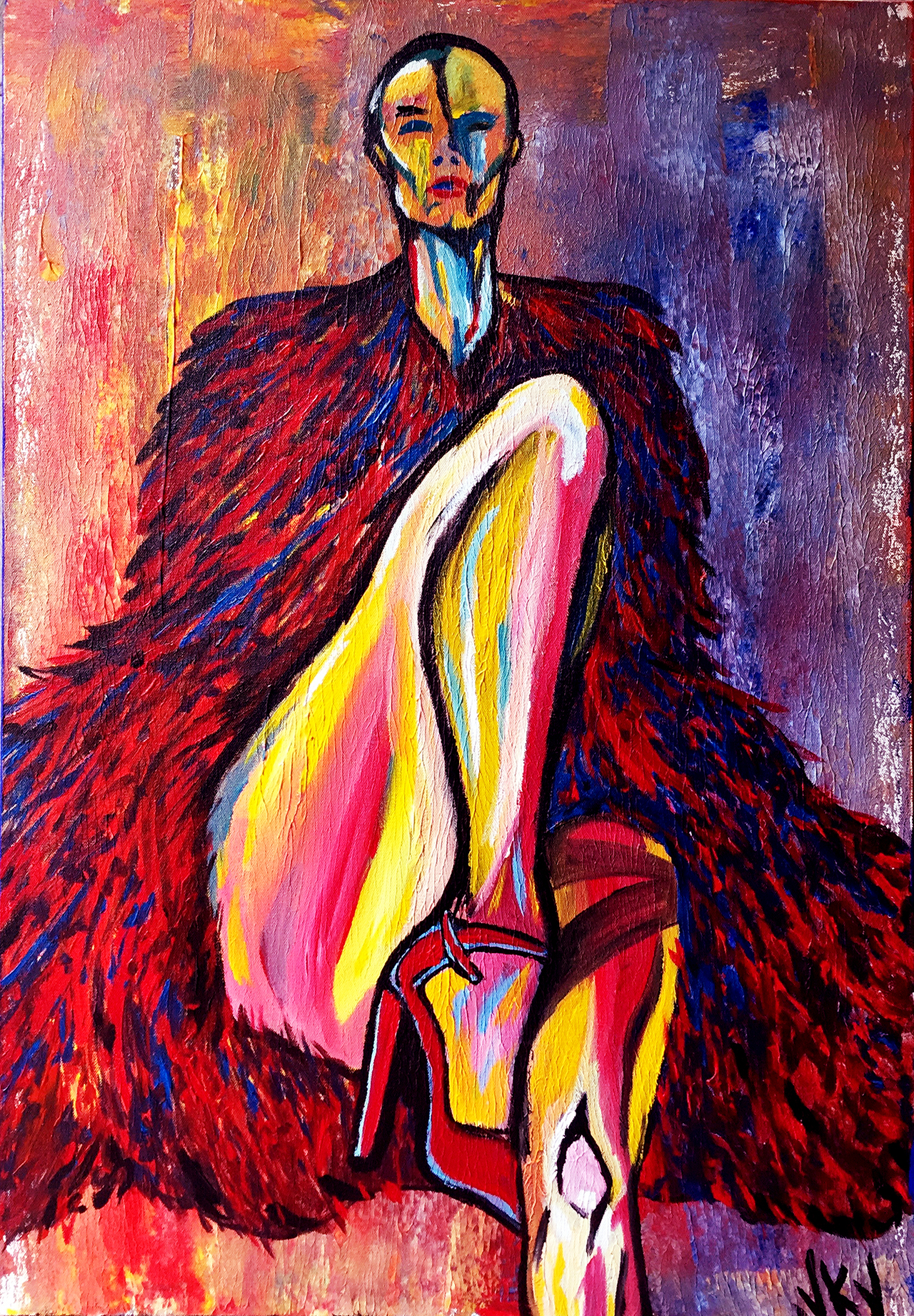 Red Shoe - 30x40 - Acrylic on Canvas