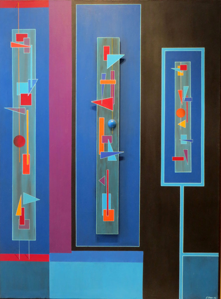 The Rhythms of the Sirens - 55 x 41 - Acrylic, Wood, and Mixed Media on Canvas