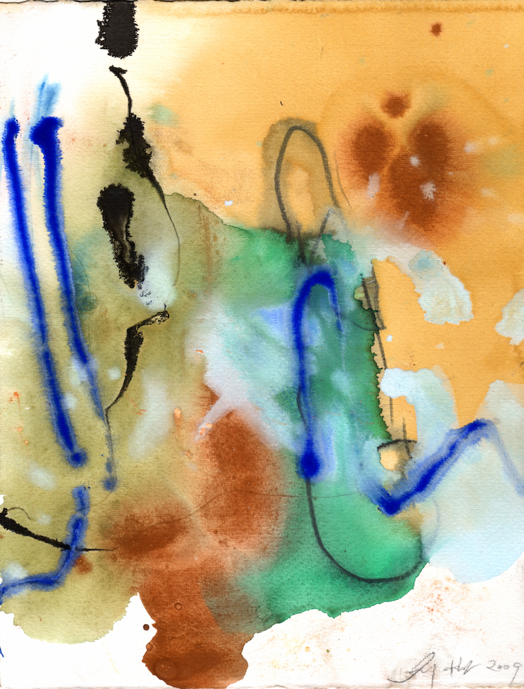 Spring Suite 07 - Water Color Ink Acrylic on Paper - 11x8.5