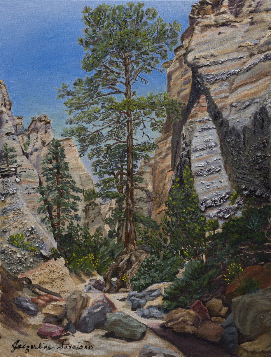 """Ancient Roots, Kasha-Katuwe Tent Rocks National Monument, Cochiti, New Mexico - Oil & mixed media on canvas - 18"""" X 24"""""""